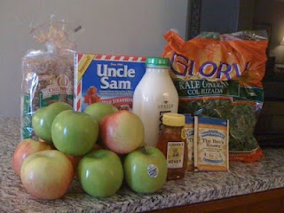 Groceries from 2011 Trip to Kansas City (I was still drinking milk; now I get soy milk.)