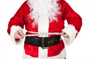 Santa Claus Measuring Fat Belly