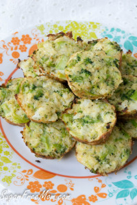 Today's favorite recipe, Broccoli Cauliflower Quinoa Bites from SugarFreeMom.com.